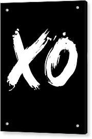 Xo Poster Black Acrylic Print