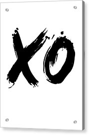 Xo Poster White Acrylic Print