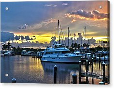 Acrylic Print featuring the photograph Yacht At Cape Coral Florida Marina And Resort 2 by Timothy Lowry