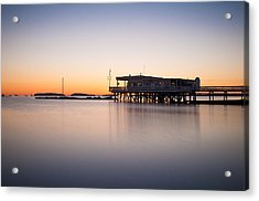 Yacht Club At Sunrise Acrylic Print by Lee Costa
