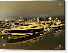 Acrylic Print featuring the digital art Yacht  by Gandz Photography