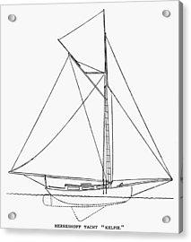 Yacht: Kelpie, 1882 Acrylic Print by Granger