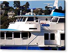Yacht On Ocean Sausalito California Acrylic Print