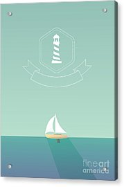 Yacht Sailing In The Sea. Traveling Acrylic Print