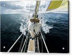 Yacht Sailing On The Southern Ocean Acrylic Print by John White Photos