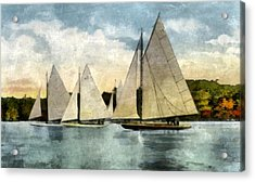 Yachting In Saugatuck Acrylic Print