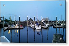 Yachts In Dock Acrylic Print