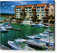 Yachts Of The Rich And Famous Acrylic Print by Dave Bosse