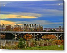 Yakima River Bridge Acrylic Print by Lynn Hopwood