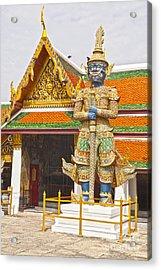 Yaksha Figure Wat Phra Kaew                   Acrylic Print by Colin and Linda McKie