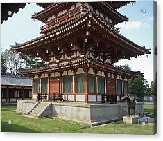 Yakushi-ji Temple West Pagoda - Nara Japan Acrylic Print by Daniel Hagerman