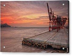 Yangshan Deep-water Harbor Acrylic Print