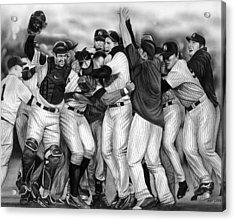 Yankee Celebration Acrylic Print by Jerry Winick