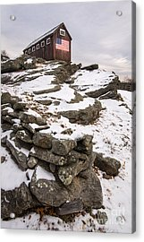 Yankee Farmlands No 18 - Barn With American Flag Acrylic Print