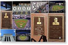 Yankee Stadium Collage 2 Acrylic Print by Allen Beatty