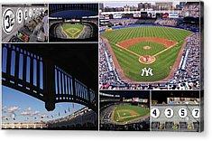 Yankee Stadium Collage 3 Acrylic Print by Allen Beatty