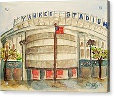 Yankee Stadium  Acrylic Print by Elaine Duras