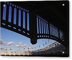 Yankee Stadium Facade Acrylic Print by Allen Beatty