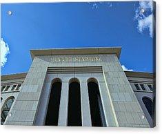 Yankee Stadium Main Entrance Acrylic Print by Allen Beatty