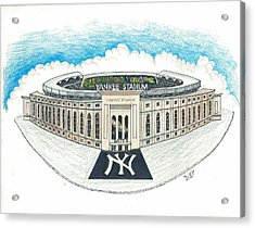 Yankee Stadium Acrylic Print by Marty Fuller