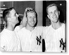 Yankees Celebrate Victory Acrylic Print by Underwood Archives