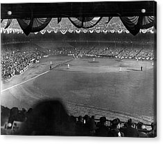 Yankees Defeat Giants Acrylic Print by Underwood Archives