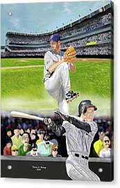 Yankees Vs Indians Acrylic Print