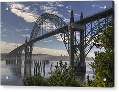Yaquina Bay Bridge Acrylic Print by Mark Kiver