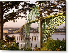 Yaquina Bay Bridge Morning Light Acrylic Print