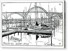 Yaquina Bay Newport Oregon Acrylic Print
