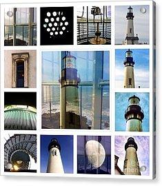 Yaquina Head Lighthouse Essence  Acrylic Print by Susan Garren