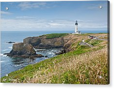 Acrylic Print featuring the photograph Yaquina Head Lighthouse by Jeff Goulden