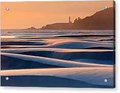 Yaquina Head Swirling Sands Acrylic Print