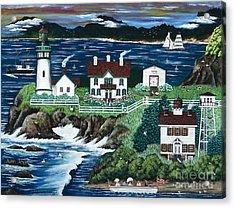 Yaquina Lighthouse Acrylic Print by Jennifer Lake