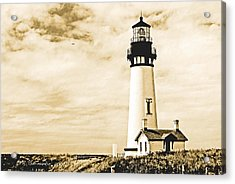 Acrylic Print featuring the photograph Yaquina Lighthouse Oregon by A Gurmankin