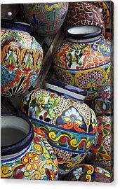 Yard Pots Acrylic Print