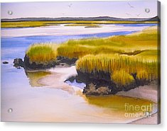 Acrylic Print featuring the painting Yarmouthport Marsh by Karol Wyckoff