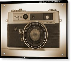 Yashica Lynx 5000e 35mm Camera Acrylic Print by Mike McGlothlen
