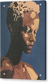 Acrylic Print featuring the painting Yasmin Warsame by Rachel Natalie Rawlins