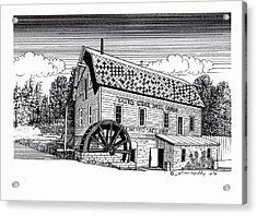 Yates Cider Mill Acrylic Print by J W Kelly