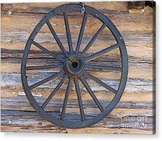 Yates Mill Wagon Wheel Acrylic Print by Kevin Croitz