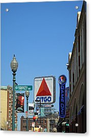 Yawkey Way And Citgo Acrylic Print