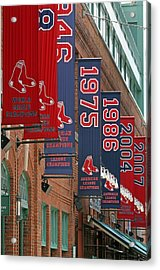 Yawkey Way Red Sox Championship Banners Acrylic Print by Juergen Roth