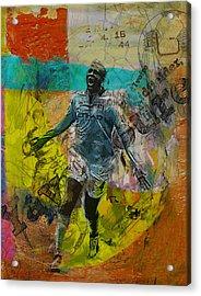 Yaya Toure - B Acrylic Print by Corporate Art Task Force