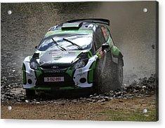 Yazeed Al Rajhi Fia World Rally Championship Australia 2013 Acrylic Print by Noel Elliot