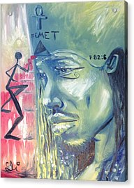 Ye Are Gods - Psalms 82-6 - Kemet Acrylic Print by Sean Ivy aka Afro Art Ivy