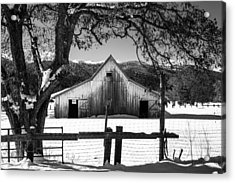 Ye Old Barn Acrylic Print by Randy Wood