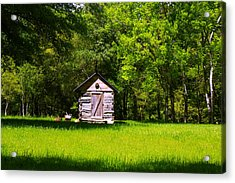 Acrylic Print featuring the photograph Ye Old Cabin by Andy Lawless