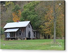Ye Old Cabin In The Fall Acrylic Print