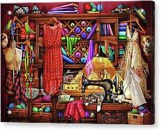 Acrylic Print featuring the drawing Ye Olde Craft Room by Ciro Marchetti